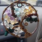 My Tree of Life necklace displayed in my car